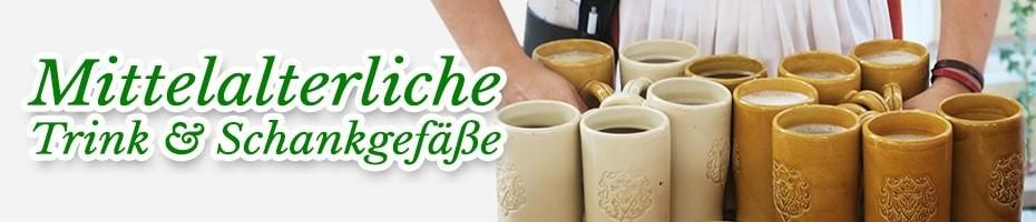 Mittelalterliche Trinkgefäße